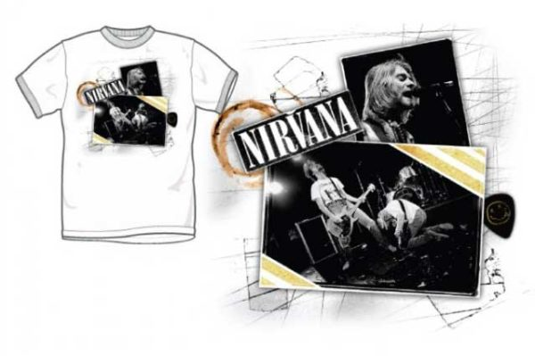 Nirvana Scrap Book T-shirt XL - XL