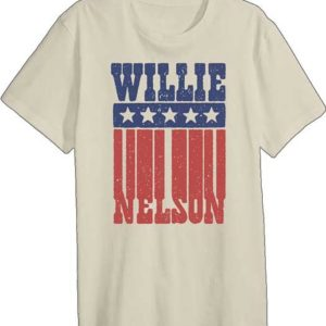 Willie Nelson Americana Mens White T-Shirt
