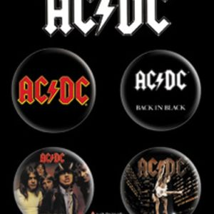AC/DC ACDC 4 Button Set - S