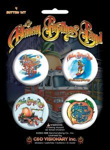 Allman Brothers 4 Button Set - S