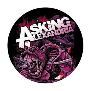 Asking Alexandria 1.25 Teeth Pin - S