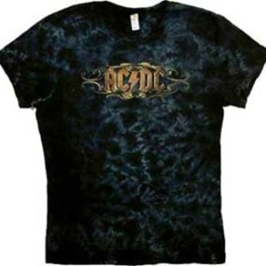 AC/DC Scroll Jr Tie Dye T-Shirt