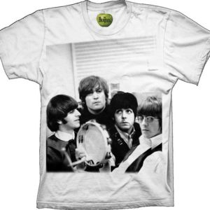 The Beatles Band Photo  Mens WhiteT-shirt