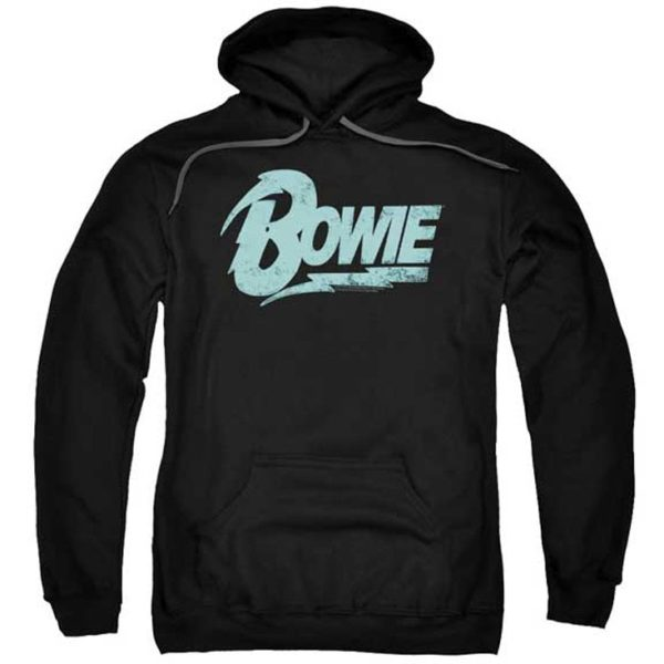 David Bowie Distressed Logo Hoodie