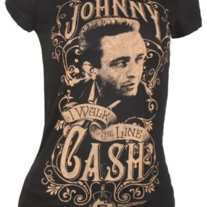 Johnny Cash Walk the Line Jr T-shirt - S