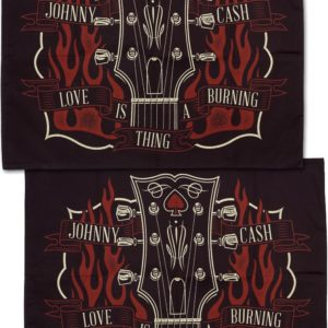Johnny Cash Guitar Pillow Case Set - Standard