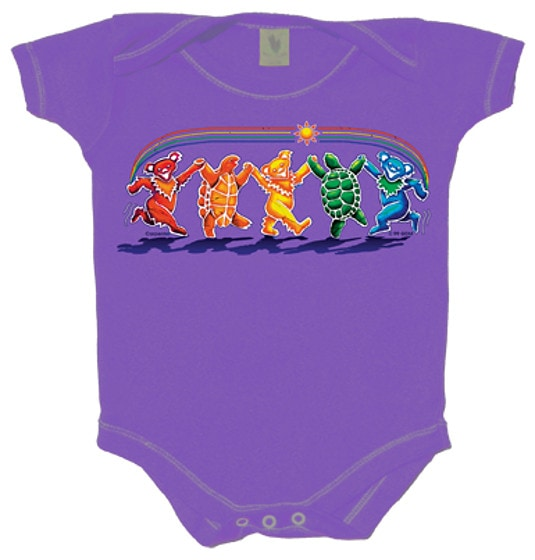 Grateful Rainbow Critters One Piece