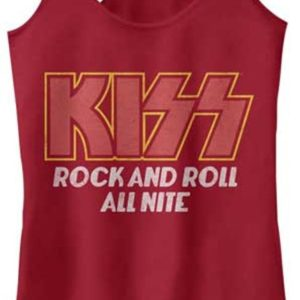 KISS All Night Jr Racerback Tank Top