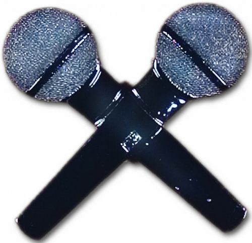 2 Microphones Belt Buckle