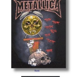 Metallica Clock Mens Black T-shirt