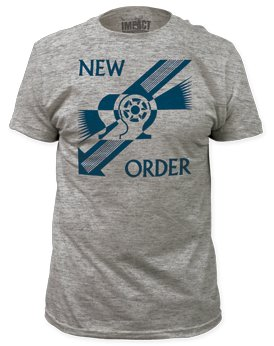New Order Everything's Gone Green Mens Gray T-shirt