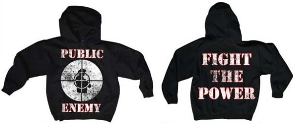 Public Enemy Fight The Power Zip Hoodie Small Only