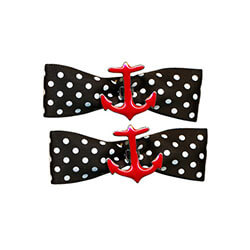 Anchor Bow Barrettes - OSFA