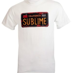 Sublime License Plate Mens White T-shirt
