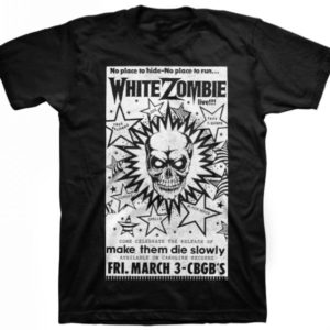 White Zombie CBGB Poster Mens Black T-shirt