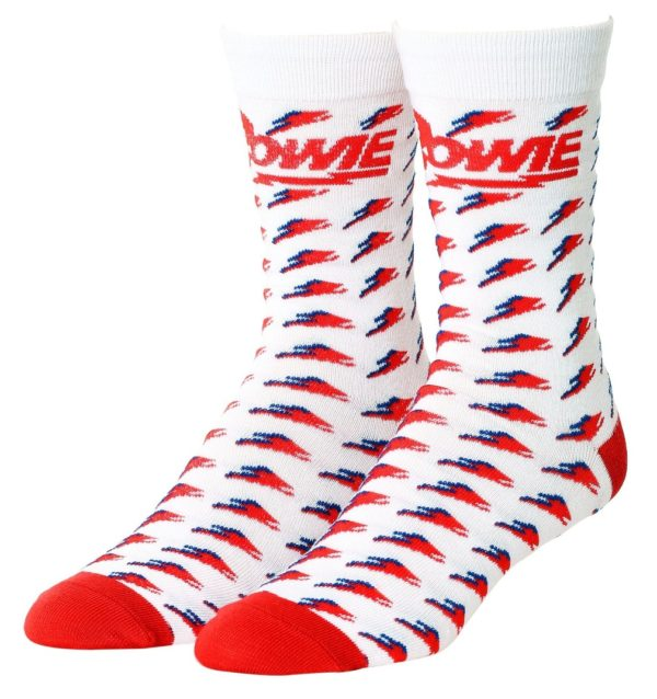 David Bowie Bolt Repeat Socks
