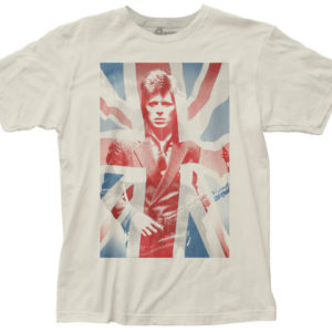 David Bowie Union Jack Mens White T-Shirt
