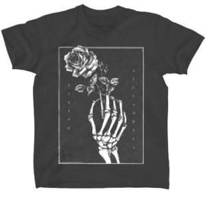Asking Alexandria Skeleton Rose Mens Black T-shirt