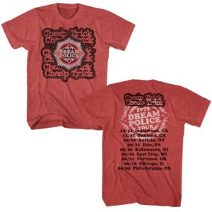Cheap Trick Dream Police 1979 Tour Red T-shirt